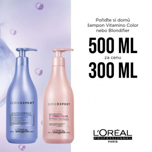 Šampon Vitamino Color nebo Blondifier 500 ml za cenu 300 ml